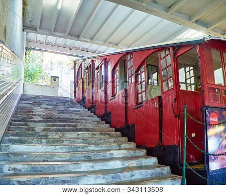 Funicular To The Top Of Mount Igueldo. San Sebastian, Basque Country, Spain.