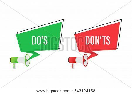 Do S And Don Ts Like Thumbs Up Or Down. Flat Simple Thumb Up Symbol Minimal Round Logotype Element S