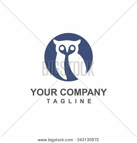Owl Negative Space Vector Logo And Icon For Company