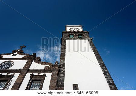 View Of The Main Church Of Ponta Delgada, Sao Miguel, Azores.