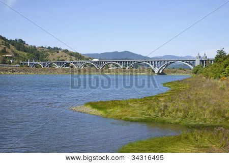 Bridge Crossing In Gold Beach Or.