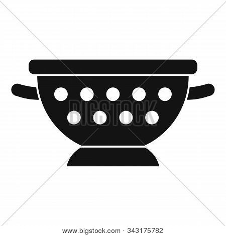 Steel Sieve Icon. Simple Illustration Of Steel Sieve Vector Icon For Web Design Isolated On White Ba