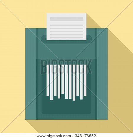 Office Shredder Icon. Flat Illustration Of Office Shredder Vector Icon For Web Design