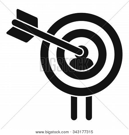 Buyer Target Icon. Simple Illustration Of Buyer Target Vector Icon For Web Design Isolated On White