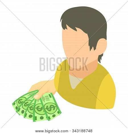 Earnings Icon. Isometric Illustration Of Earnings Vector Icon For Web
