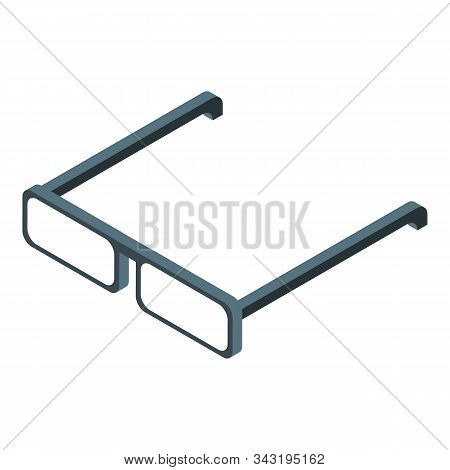 Doctor Eyeglasses Icon. Isometric Of Doctor Eyeglasses Vector Icon For Web Design Isolated On White