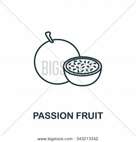 Passion Fruit Icon From Fruits Collection. Simple Line Element Passion Fruit Symbol For Templates, W