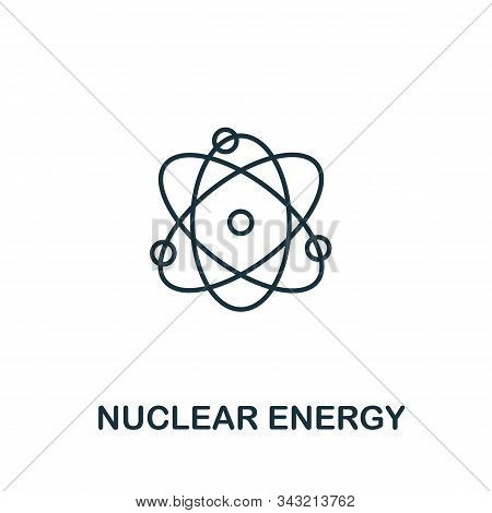 Nuclear Energy Icon From Clean Energy Collection. Simple Line Element Nuclear Energy Symbol For Temp