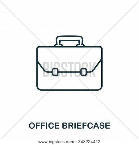 Office Briefcase Line Icon. Thin Design Style From Office Tools Icon Collection. Simple Office Brief