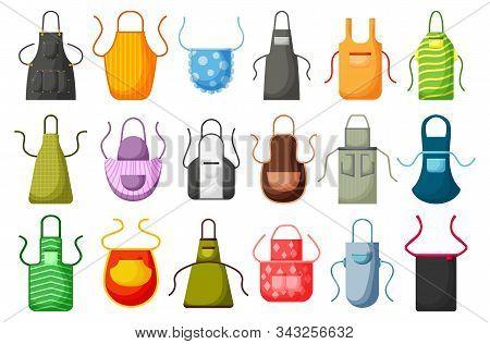 Kitchen Apron Vector Cartoon Icon Set. Isolated Cartoon Set Cook Uniform.vector Illustration Icon Ki