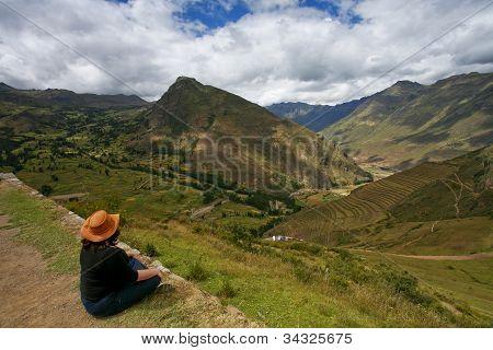 Contemplative Traveler Machu Picchu, Peru