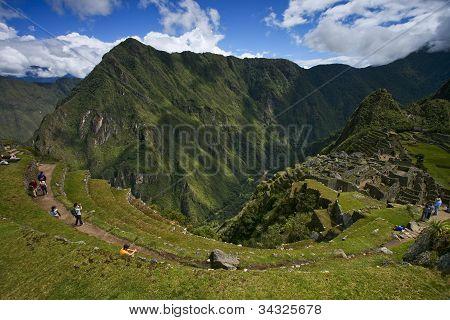 Machu Picchu, Peru, top and side view