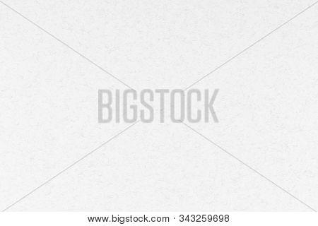 White Paper Texture With Black Fibers. Kraft Cardboard.