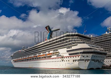 Miami, Florida - December 14, 2014: Carnival Cruise Lines Began As An Independent Cruise Ship Line I