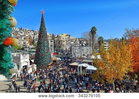 People Celebrate Christmas In Nazareth, Israel