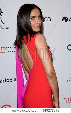 NEW YORK - APR 24: Padma Lakshmi attends the 2018 Time 100 Gala at Jazz at Lincoln Center on April 24, 2018 in New York City.
