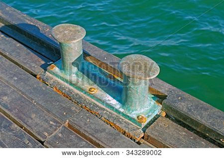 Berth Bollard For The Mooring Of Ships