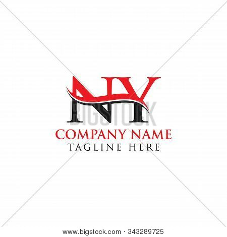 Abstract Letter Ny Logo Design Vector Template. Creative Swoosh Letter Ny Logo Design