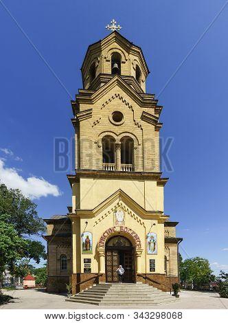Evpatoria, Crimea, Russia-september 8, 2019: Facade Of The Church Of St. Elijah, Built In 1911-1918