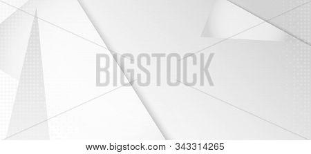Halftone Minimal Gray Vector Background. Modern Faded Banner. Halftone Wallpaper. Edgy Tile. Grain P