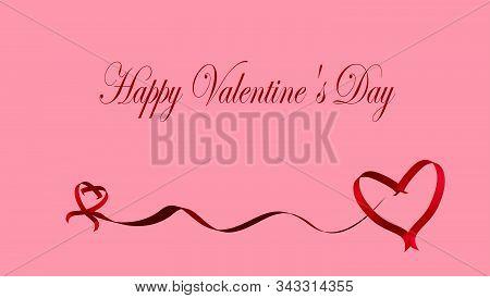Valentine Day, Valentine, Valentines Day Background, Valentines Day With Red Heart On Pink Backgroun