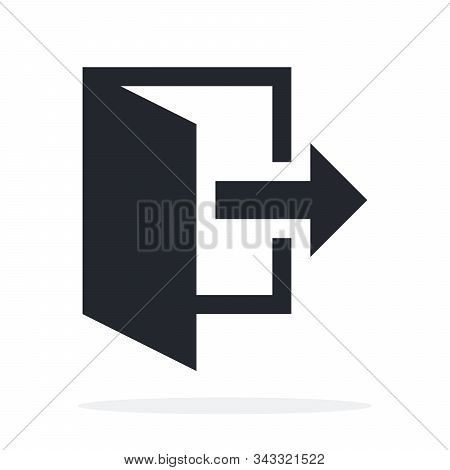 Fire Exit And Quit Vector Icon Flat Isolated