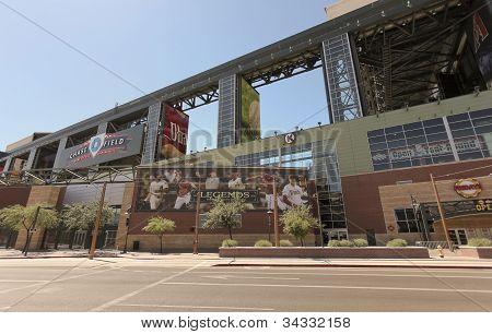 A Sunny Chase Field, Downtown Phoenix, Arizona