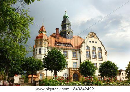 City hall building in Grossroehrsdorf city Germany