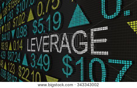 Leverage Stock Trading Financing Marginal Share Trades 3d Illustration