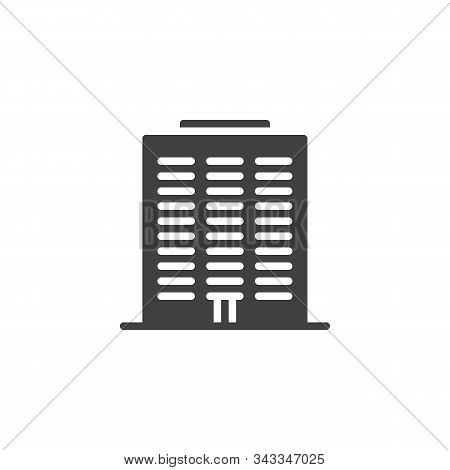 Condo Building Vector Icon. Filled Flat Sign For Mobile Concept And Web Design. Townhouse Buildings