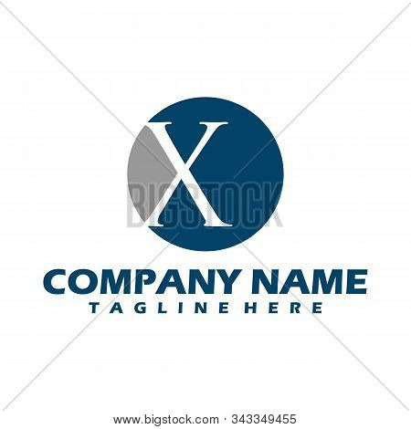X Dots Logo Design Template. Hexagon X Icon. X Letter Logo Vector. Hexagon Logo, X Letter, X Dots, X