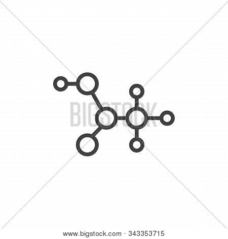 C2h4o2 Molecular Formula Line Icon. Linear Style Sign For Mobile Concept And Web Design. Acetic Acid