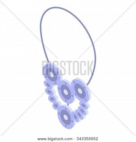 Beauty Necklace Icon. Isometric Of Beauty Necklace Vector Icon For Web Design Isolated On White Back
