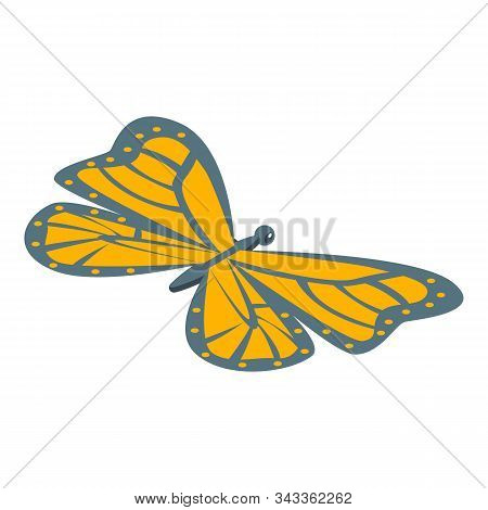Monarch Butterfly Icon. Isometric Of Monarch Butterfly Vector Icon For Web Design Isolated On White