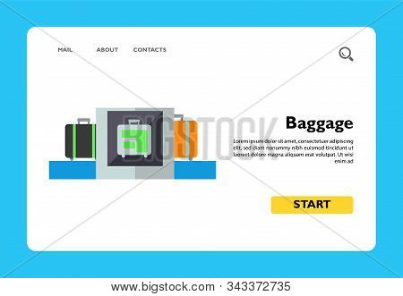 Icon Of Baggage Security Scanner. Luggage, Bag, Checkup. Security Concept. Can Be Used For Topics Li