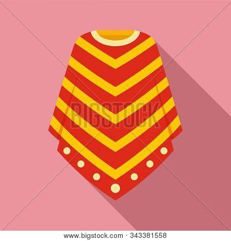 Peru Clothes Icon. Flat Illustration Of Peru Clothes Vector Icon For Web Design