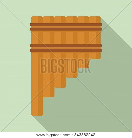 Pipe Flute Icon. Flat Illustration Of Pipe Flute Vector Icon For Web Design