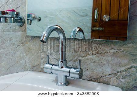 Adjustable Sink Tap Faucet. Floor Mounted Neck Tap Faucet Wash Basin Cabinet Bathroom Furniture. Cer