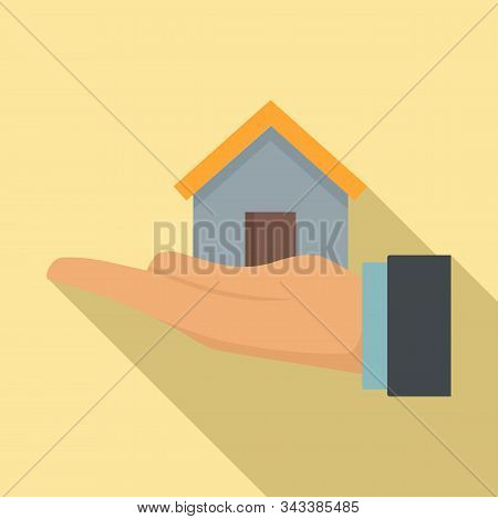 Leasing Home Icon. Flat Illustration Of Leasing Home Vector Icon For Web Design