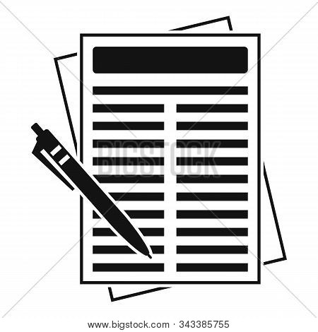 Leasing Report Paper Icon. Simple Illustration Of Leasing Report Paper Vector Icon For Web Design Is