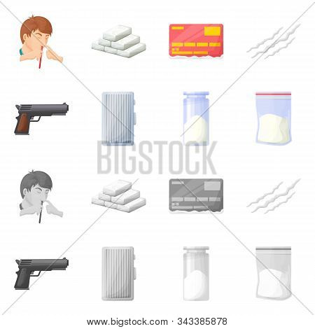 Isolated Object Of Remedy And Medicine Symbol. Set Of Remedy And Chemistry Stock Vector Illustration