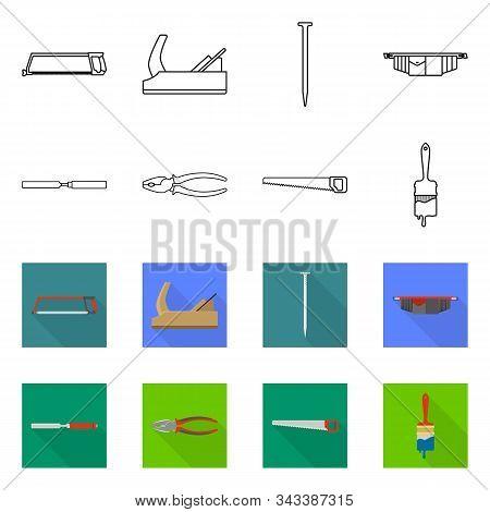 Vector Design Of Household And Repair Symbol. Set Of Household And Overhaul Vector Icon For Stock.