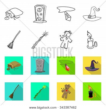 Isolated Object Of Witchcraft And Mystic Icon. Collection Of Witchcraft And Magic Vector Icon For St