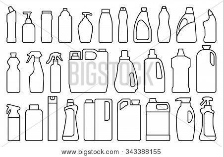 Detergent Of Product Line Set Icon.vector Illustration Detergent For Laundry On White Background .is