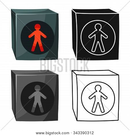 Vector Design Of Stoplight And Light Icon. Web Element Of Stoplight And Signal Vector Icon For Stock
