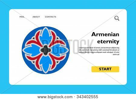 Colorful Armenian Sign Of Eternity. Everlasting, Celestial Life, Eternity, National Identity. Nation