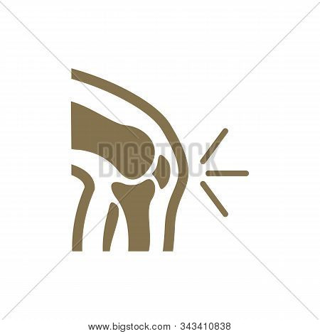 Human Bone Orthopedic Logo Concept Vector. Bone X-ray Image Of Human Joints. Anatomy Skeleton Flat D