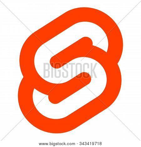 The Svelte Framework Vector Emblem. Stylized Orange Letter S On A White Background.