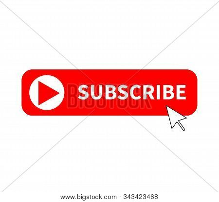 Subscribe Button Icon On White Background. Flat Style. Subscribe Icon For Your Web Site Design, Logo