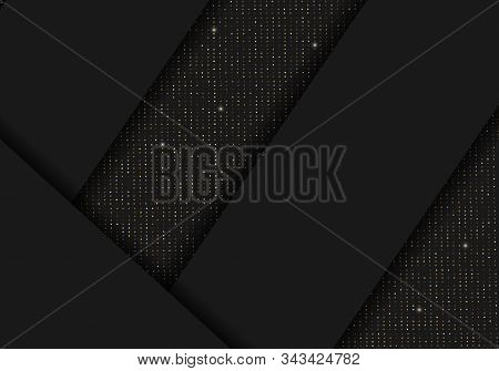 Luxurious invitation. Background. Background Of Gradient Smooth Background Texture On Elegant Rich Luxury Background Web Template Or Website Abstract Background Gradient Or Textured Background  Paper. Vector background EPS10.  Golden ribbon banner on a bl
